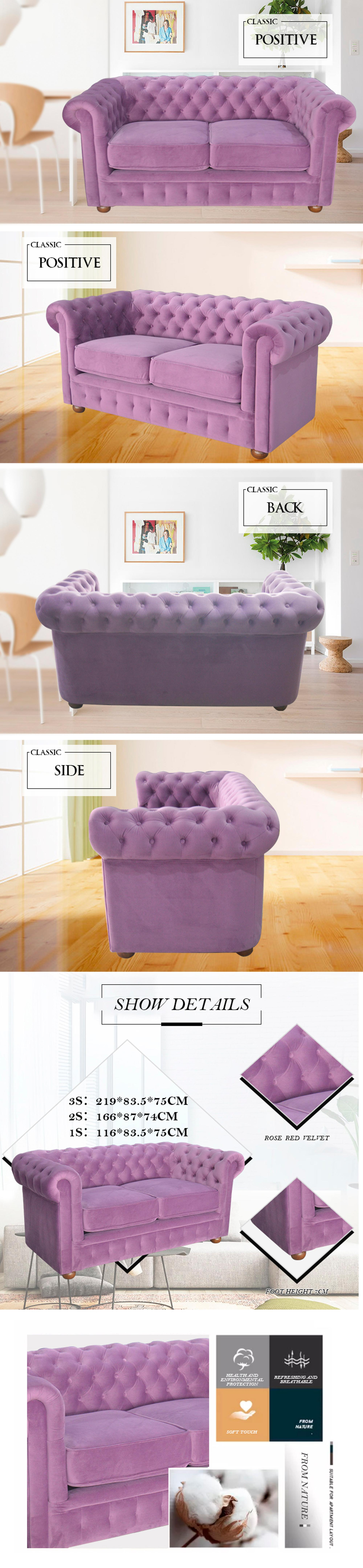 Strong elasticity foam Internal fabric soft double sofa furniture