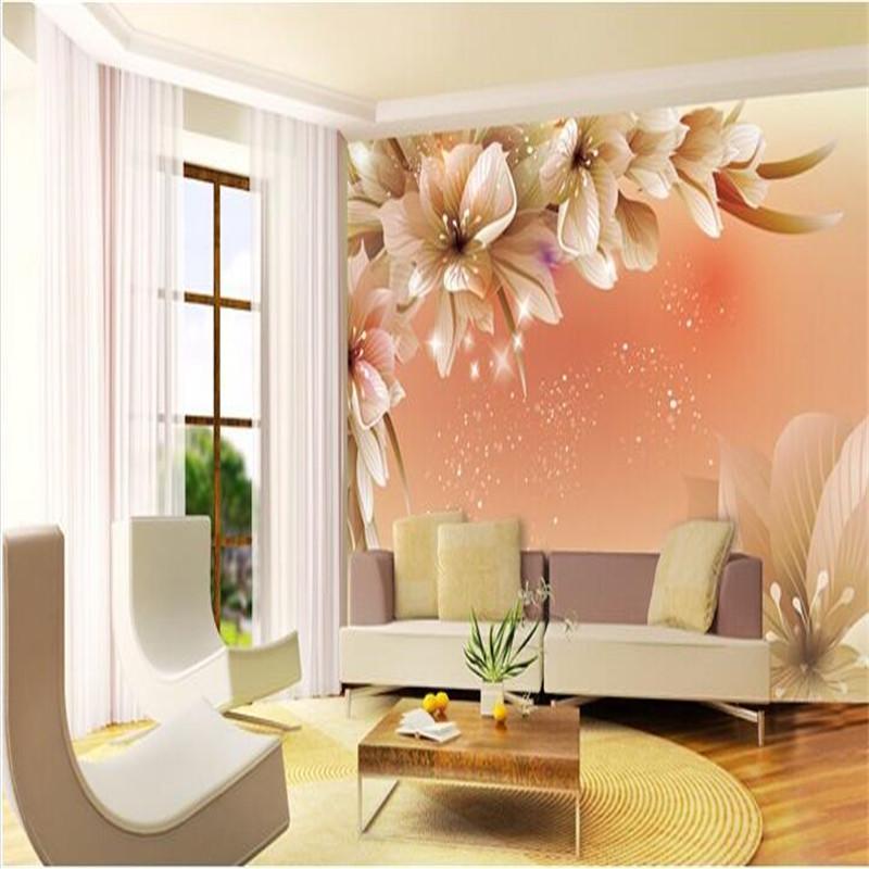 Cozy Minimalist Living Room: Custom Photo Wall Paper Large Mural 3D Cozy Bedroom Modern