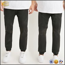 Ecoach Wholesale OEM Mens Long Zipper Crotch Knee Darts Slim Leg And Gathered Ankles Jogger Pants