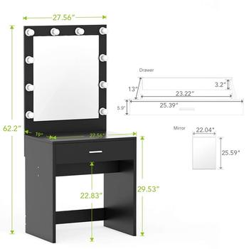 Vanity Set With Lighted Mirror Makeup Vanity Dressing Table
