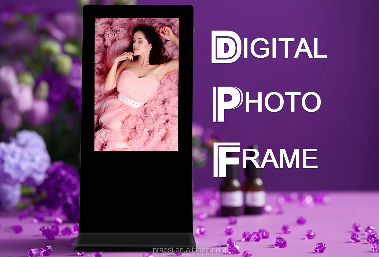big screen outdoor advertising led lcd tv display with charging function digital picture frames