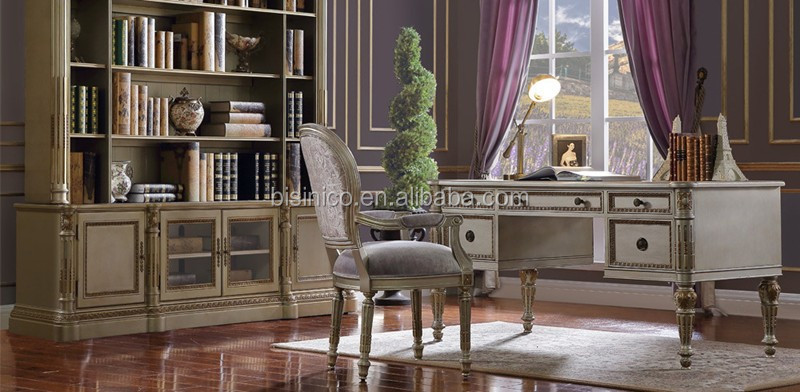 French Style Executive Office Desk With Armchair Retro