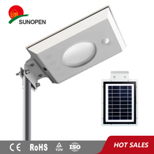 ES-205 gift packing professional LiFePO4 battery led integrated solar powered street / garden light all in one
