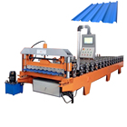 Automatic colorful steel profile sheet roll forming machine