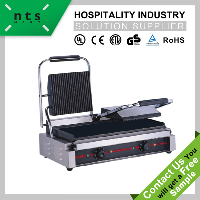 good quality hotel fast food restaurant enamel coating design electric contact grill