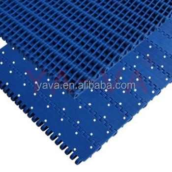 conveyor belt top view. heat resistant flat top plastic chain modular belt / conveyor belt. view larger image