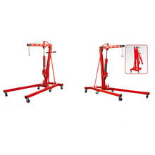 Portable Small Lift Construction Floor Crane Foldable Shop used Crane Engine Crane