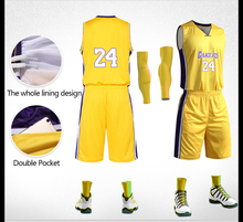 Sublimation Yellow Youth Professional Design Breathable Basketball Jersey