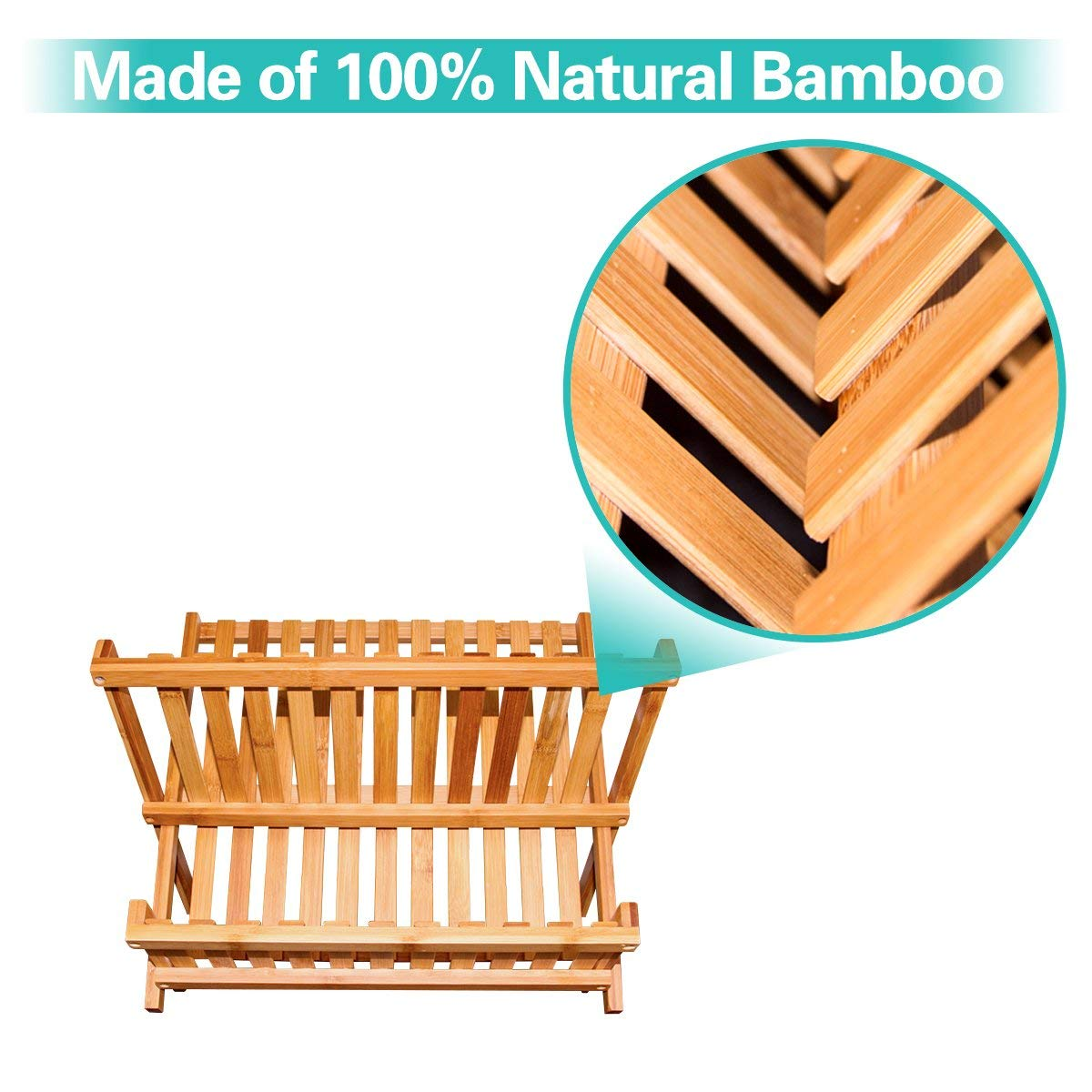 bamboo kitchen cabinet dish rack dish drying rack for high quality