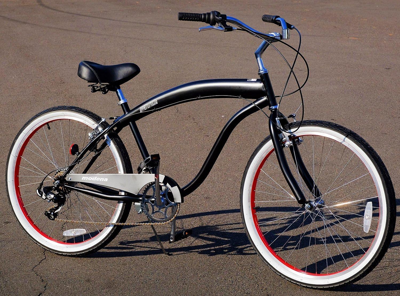 "26/"" Mens Kent Bayside Bicycle Beach Bike Hot Rod Cruiser Red Rims 7 Speeds New"
