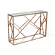 stainless steel clear glass classic console table luxury