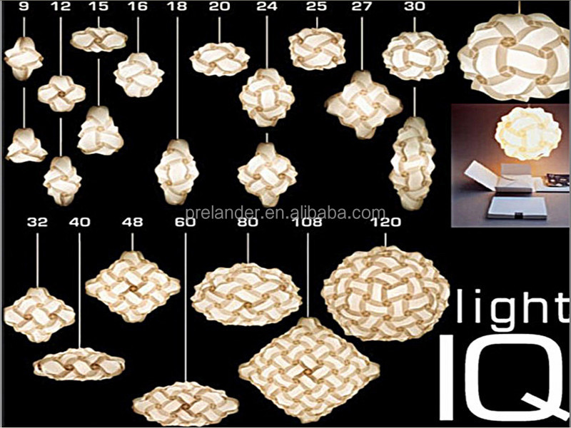 Decorative Ceiling Lamp Hanging Shades Puzzle Iq Jigsaw For Wedding Decor