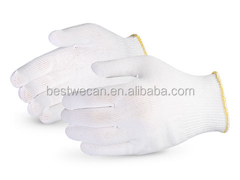 Seamless Nylon glove with PVC Dots lint free Gloves for Paint Line or Electronics