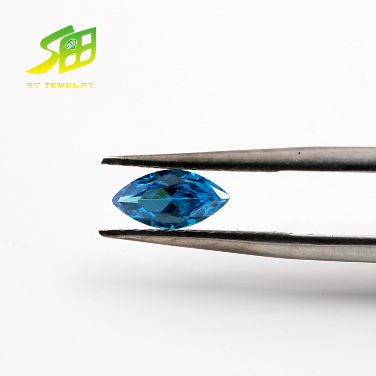 4*8mm marquise cut synthetic sapphire blue zircon jewelry prices