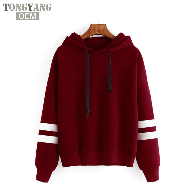 TONGYANG hot sale Women Hoodies OEM Cotton Hooded Sweet Hoodies Cute Pleated Long Sleeve Coffee Print Hoodies