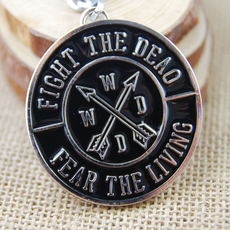 acheter am rique du film the walking dead trousseau pendentif en m tal porte. Black Bedroom Furniture Sets. Home Design Ideas