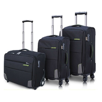 New arrival high class nylon fabric nylon soft lightweight travel trolley luggage bag travel luggage