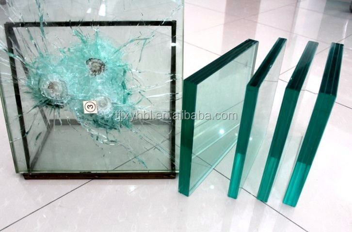 Bulletproof Armor Glass With Ce/iso Certificate,Bullet Proof Glass,Laminated Safety Glass Protection Againt Ak47