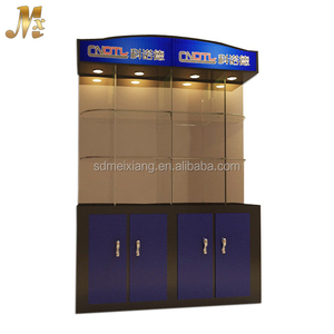 MX-WSF028 Modern display glass cabinet for showroom / mdf display stand