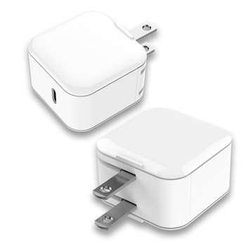 UL60950 wall charger type c PD output, 18W fast charger for iPhone XS, UV white compact and exquisite