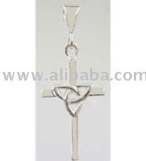 Sterling Silver Trinity Cross Pendant