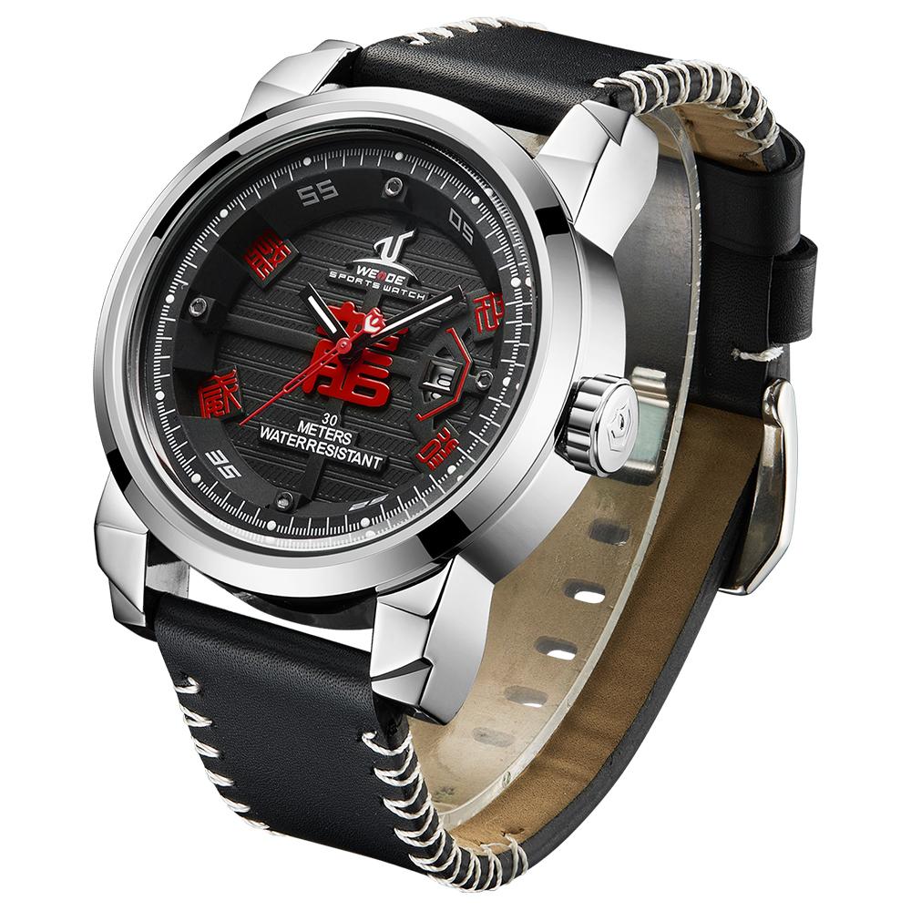 يدي الأزياء الرياضية الكوارتز ساعة أعلى الفاخرة العلامة التجارية جلدية 3ATM للماء الساعات الرجال Relojes Hombre الرياضية