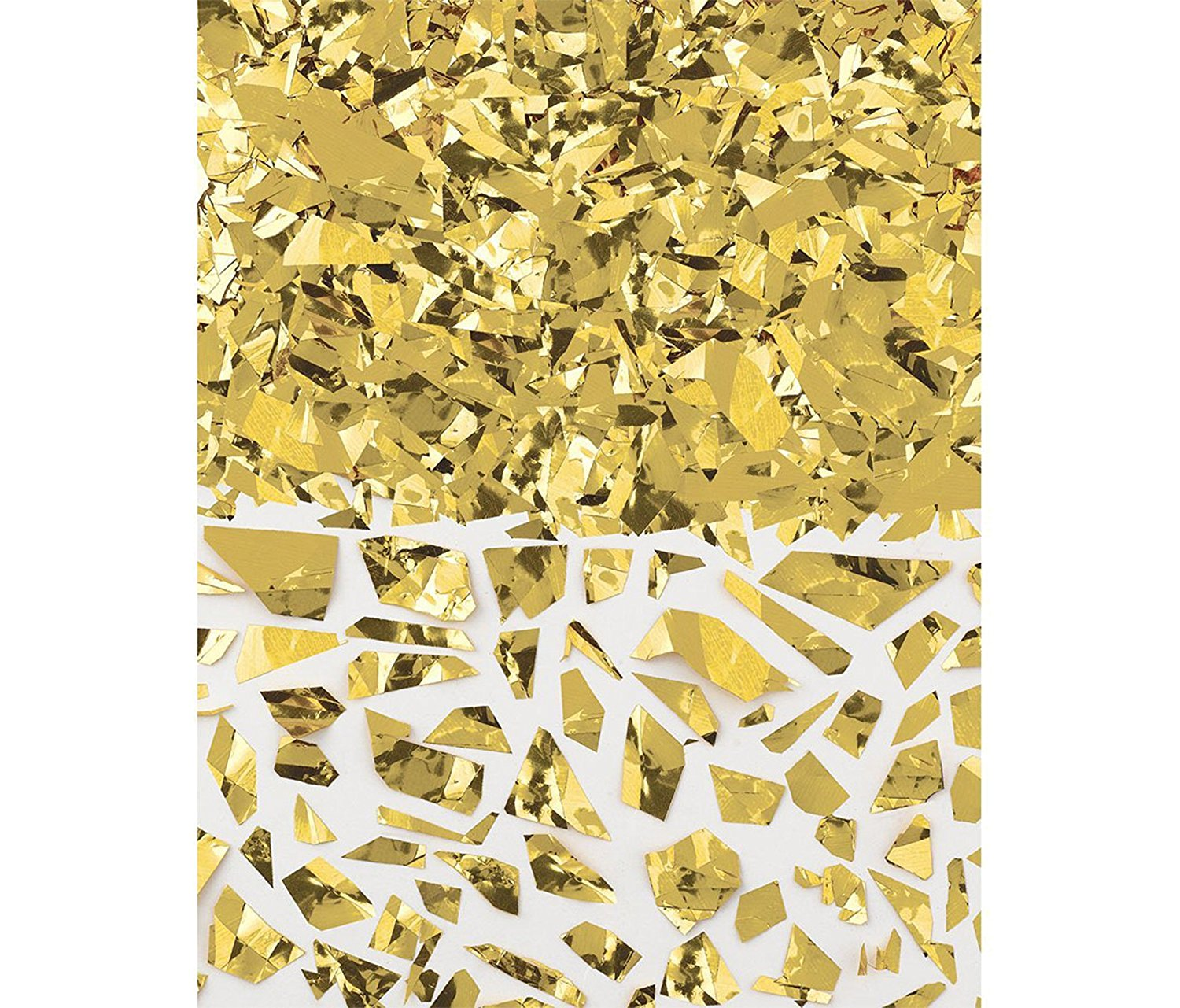 Mozlly Multipack - Amscan Gold Sparkle Foil Shred - 1.5oz - For Invitations, Table Decoration and More - Confetti, Sequins - Novelty Party Supplies (Pack of 3)