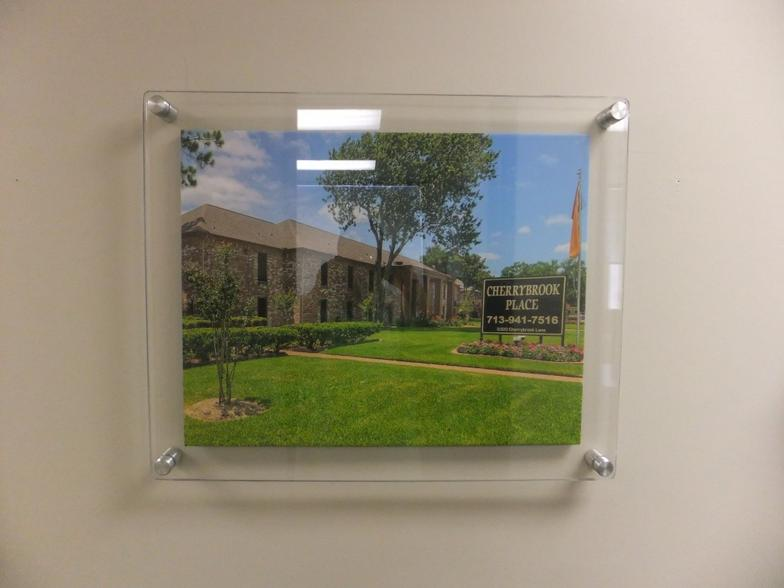 Custom Wall Mount Acrylic Sandwich Frames