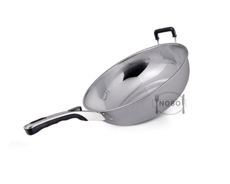 Wholesale two handled double fry pan, korean frying pan