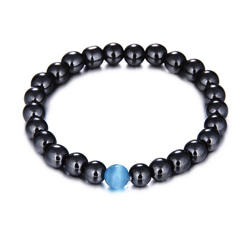 Lancui Jewelry Healing <strong>Energy</strong> Beads Stretch Cats Eye Stones Natural <strong>Bracelets</strong> <strong>Magnetic</strong> Hematite Beads <strong>Bracelets</strong>