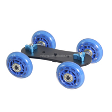 YELANGU High Quality 4 Wheel DSLR Camera Slider Mini Dolly