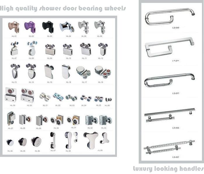 Custom Made Shower Door Pivot Hinged Shower Door And