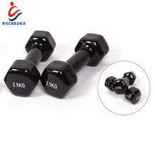 Nero Vinile Dumbells/Neoprene Manubrio per Il <span class=keywords><strong>Fitness</strong></span> e Bodybuilding