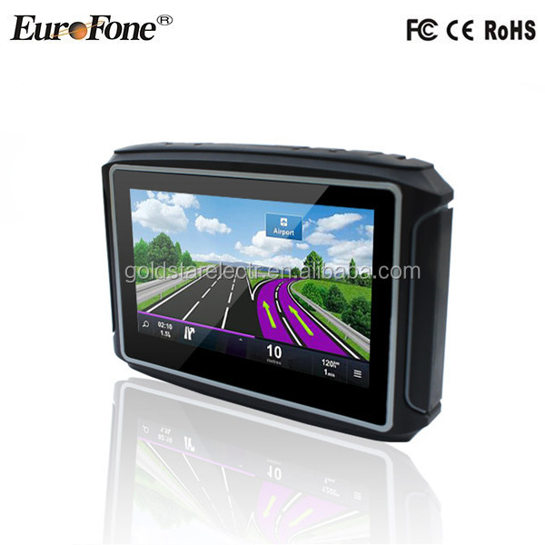 "GD-4301 2017 Fashion 4.3"" IPX7 Waterproof Motorcycle GPS navigator with Bluetooth function"