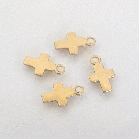 Jewelry accessories fashion best selling metal small cross gold filled charms