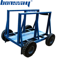 Stone slab hand moving carts trolleys for stone factory