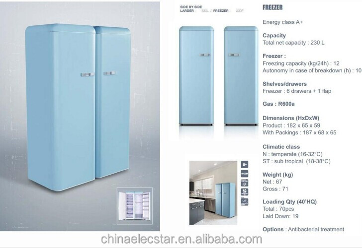 300L Double Door Retro Refrigerator,retro Fridge,home Appliance,household  Refrigeration.solid