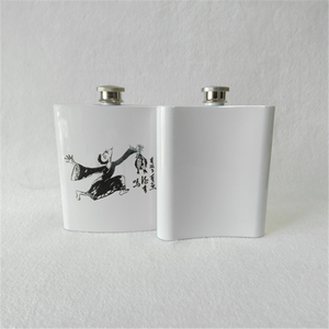 sublimation white color stainless steel hip flasks