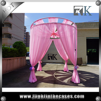Double Circle Aluminum Pipe and Drapes Custom Design