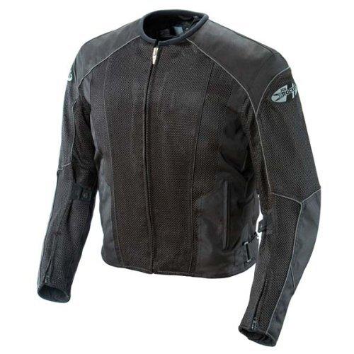 Joe Rocket 851-4016 Phoenix 5.0 Men's Mesh Motorcycle Riding Jacket (Black/Black, XX-Large Tall)