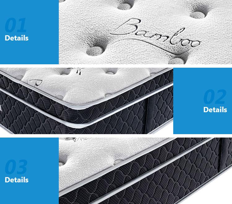 ゲルメモリ泡エッジサポートポケットスプリングマットレス格安ホット販売簡単スリープポケット春ベッドマットレス