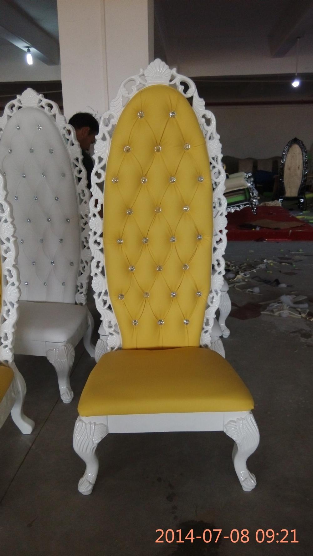 Wooden princess chair - Pakistan Arabic Furniture French Baroque Queen Throne Sofa Chair