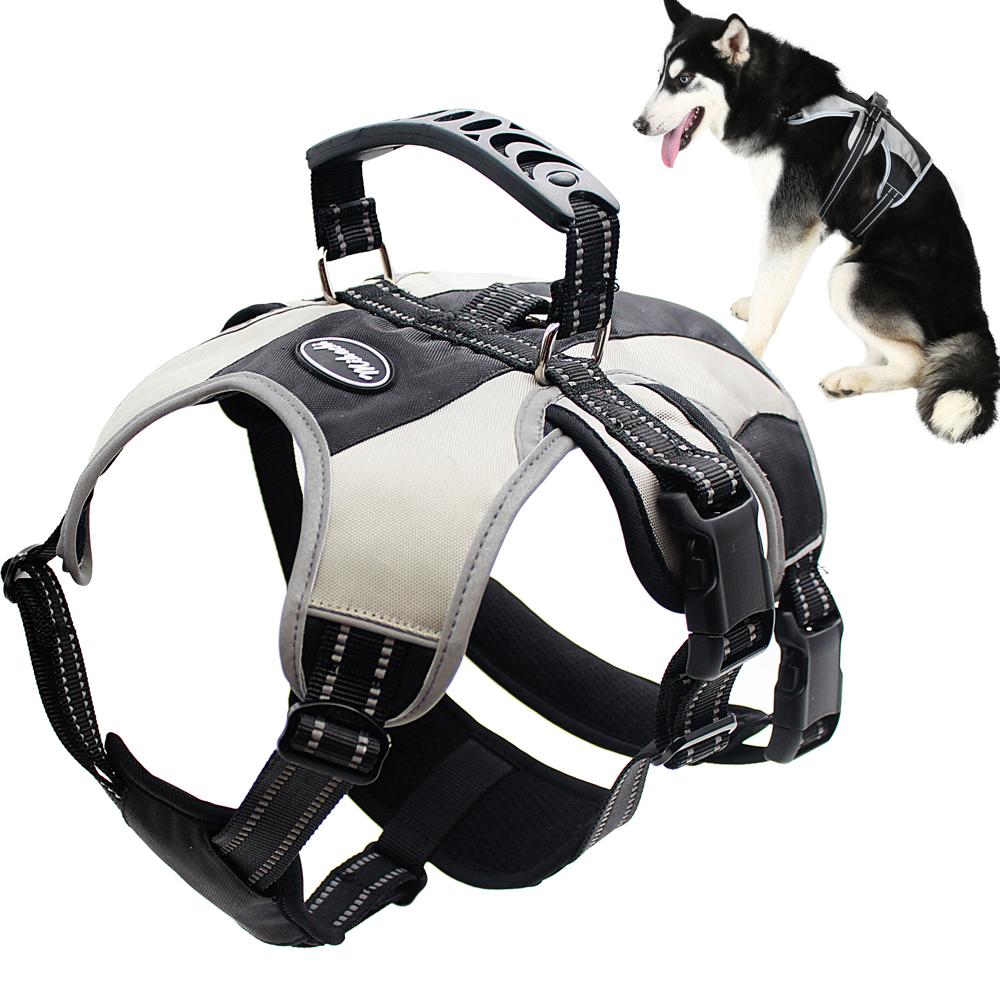 Wholesale Reflective Adjustable No Pull Padded Big Dog Harness Custom