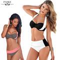 2016 New Sexy Bikinis Women Swimsuit High Waisted Bathing Suits Swim Halter Top Push Up Bikini