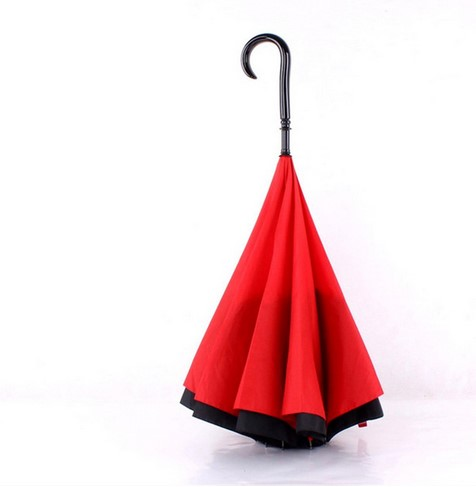 Hot Sale China Factory Good Quality Custom Reverse Umbrella with J Handle