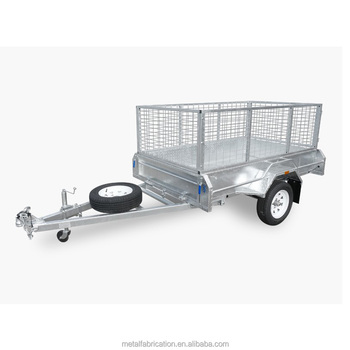 Single Axle Hot Dip Galvanized 7X4 box trailer with cage(fully welded)