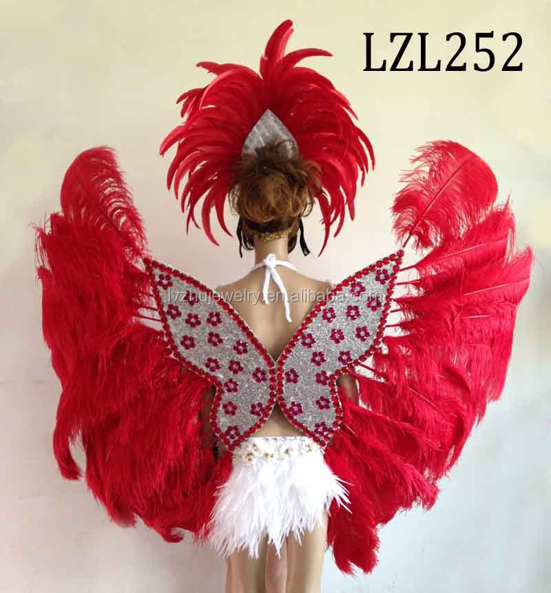 Showgirl/Dance Burlesque Feather samba costume LZL252