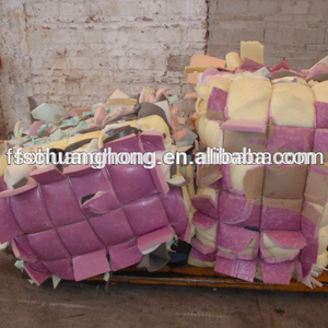 Rebond pu foam scrap in bales AA grade without skin