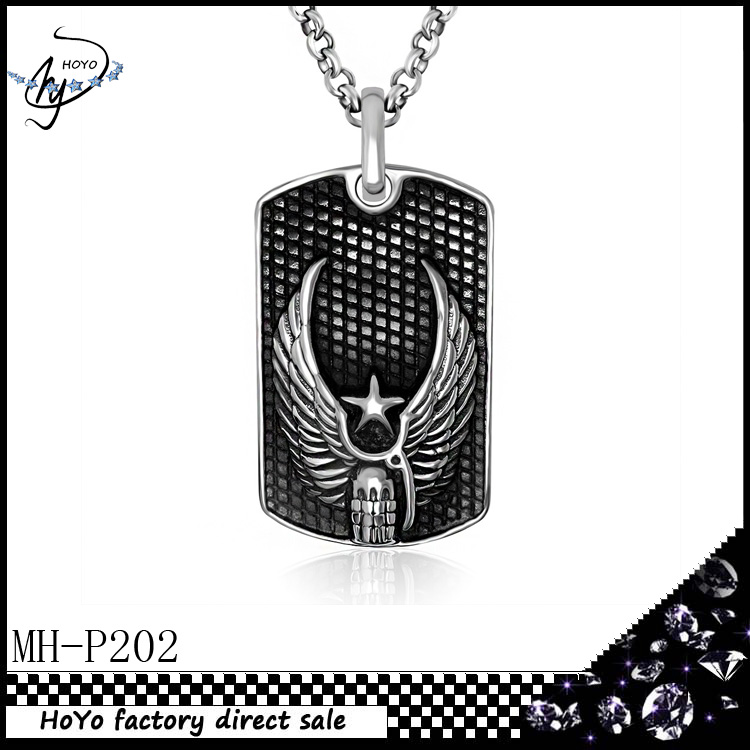 Fashion Stainless Steel Pentagram wings big pendant restoring ancient ways