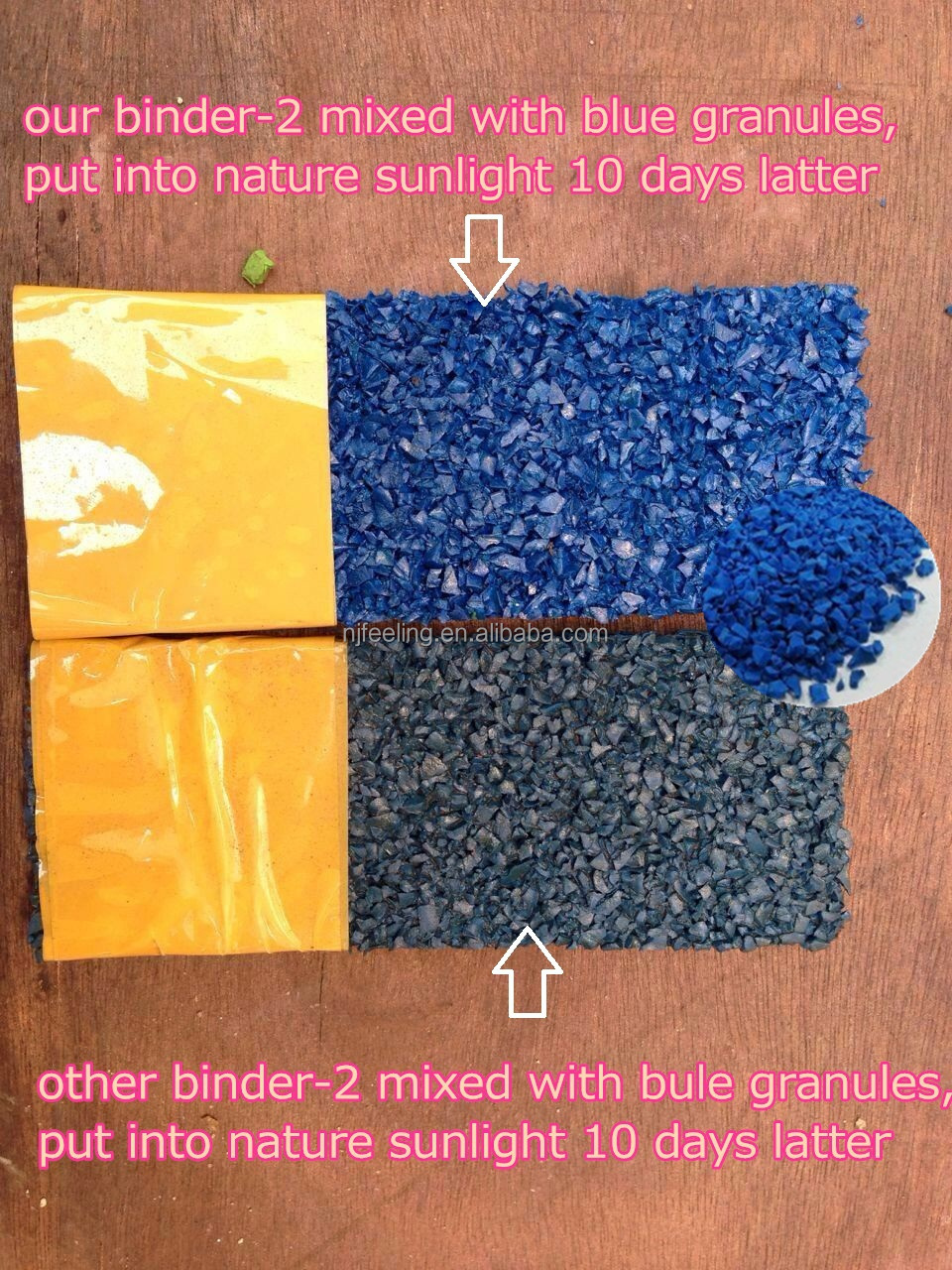 light yellow epdm granules/crumb rubber/scrap epdm resist uv for flooring surfaces-g-y-150427-1
